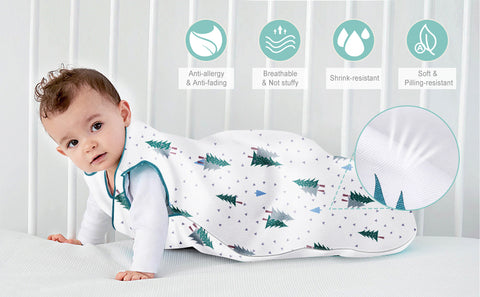 Image of Sleep Sack Wearable Blanket Baby Sleeping Bag of Cotton