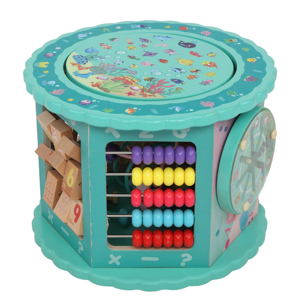 Wooden Toys Eight-In-One Function Winding Beads/Side Bead/Sea World Color
