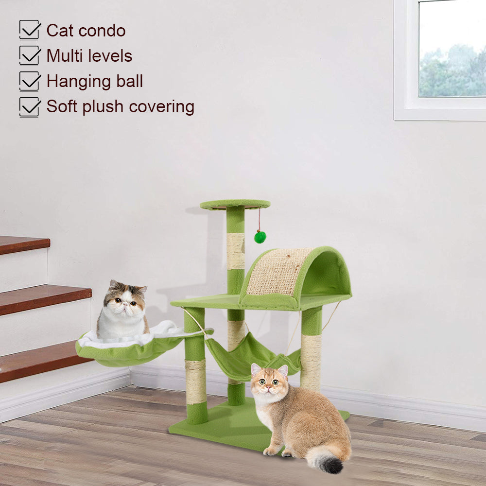 "32"" Stable Sisal Cat Climb Tower Condo"