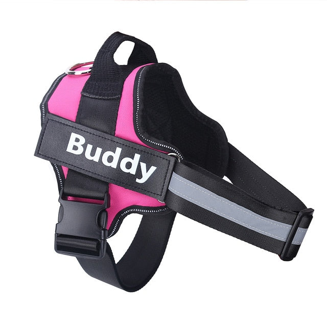 Dog Harness Reflective Breathable Adjustable Pet Harness For Dog Vest ID Custom Patch Outdoor Walking Dog Supplies - TOYSHIP