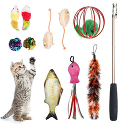 TOYSHIP's 11-Pack Assorted Cat Toys Collection