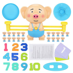 Math learning Monkey Balancing Game