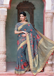 Gray designer party wear saree