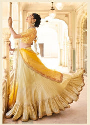 Gold and Mustard Partywear Lehenga