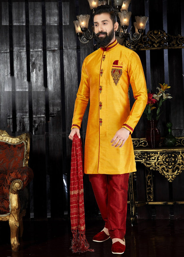 Mango Hand Embroidered Kurta Pajama