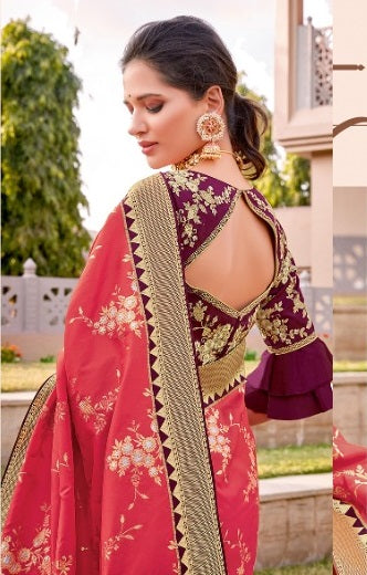 Rani weaved silk saree
