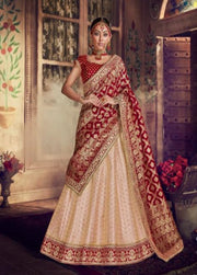 Light peach party wear lehenga choli