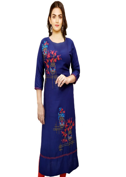 Blue Pure Cotton Kurti