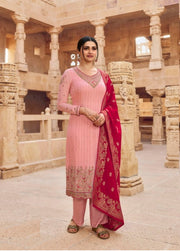 Pink Embroidery Salwar Suit