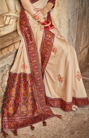 tussar dola silk saree