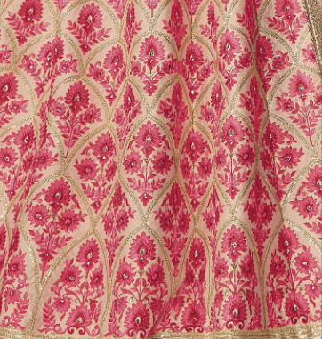 Light Peach partywear lehenga