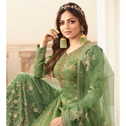 light green DOLA JACQUARD PALAZZO SUIT