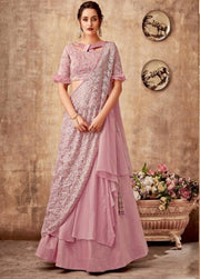 pink zari fancy silk lehenga