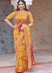 mustard designer party wear saree