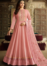 Dusty Pink PartyWear Anarkali Suit