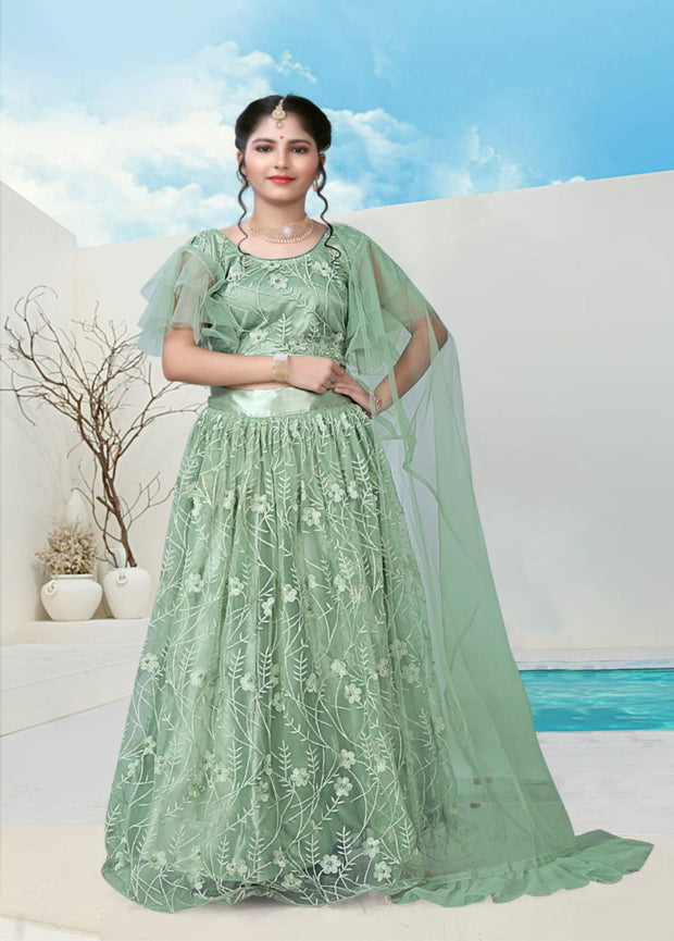 Light Mint Green Partywear Lehenga Choli