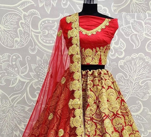 Red bridal lehenga choli