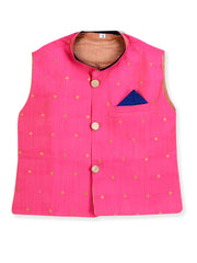Blue and Pink KURTA PAJAMA WITH NITARA JACKET