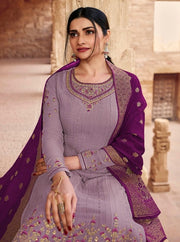 Purple Embroidery Salwar Suit