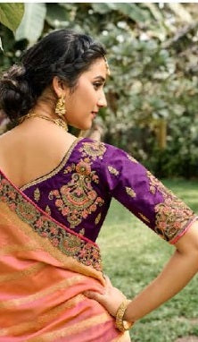 Purple Silk lehenga Choli
