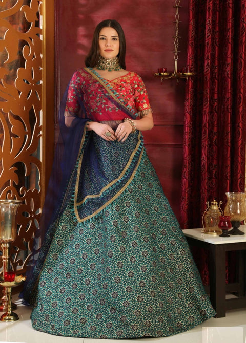 Multi Color Partywear Lehenga Choli