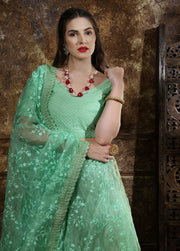 Mint Green Partywear lehenga choli