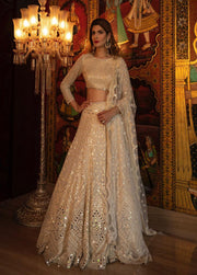 Cream Bridal Lehenga Choli