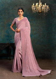 pink  silk  georgette saree
