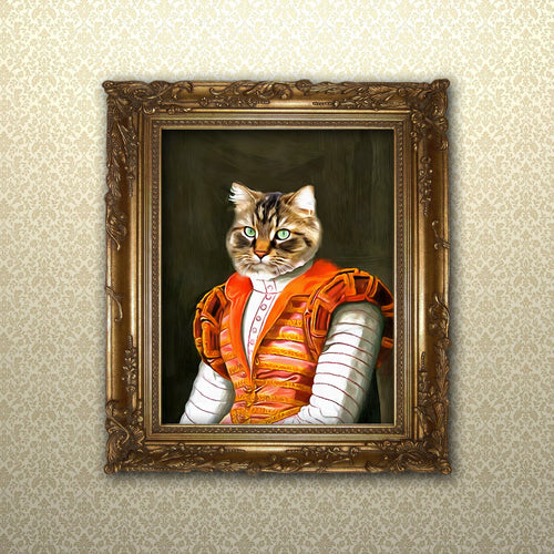 Custom cat portrait, pet gift idea