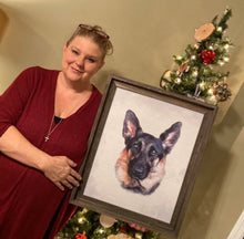 Load image into Gallery viewer, pet portrait watercolor