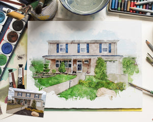 Home sketch Custom House painting