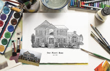 Load image into Gallery viewer, Sketch House illustration
