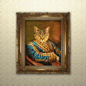 royal pet portrait from photo