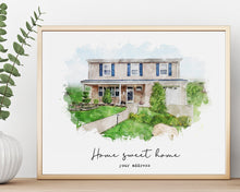 Load image into Gallery viewer, Home portrait Custom watercolor