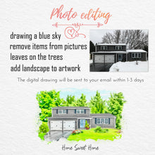 Load image into Gallery viewer, house drawing from photo