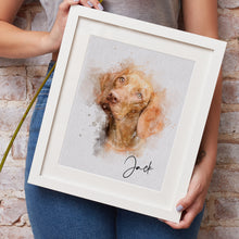 Load image into Gallery viewer, Pet Painting Portrait from Photos