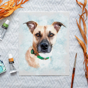 pet portrait from photos