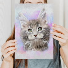 Load image into Gallery viewer, Cat portrait from photo