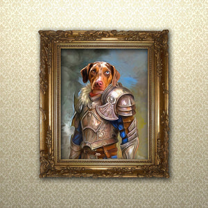 Custom Knight Pet Portrait