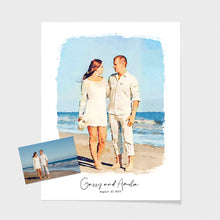 Load image into Gallery viewer, wedding portrait watercolor