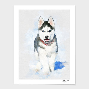 Mom gift PEEKABOO Dog art