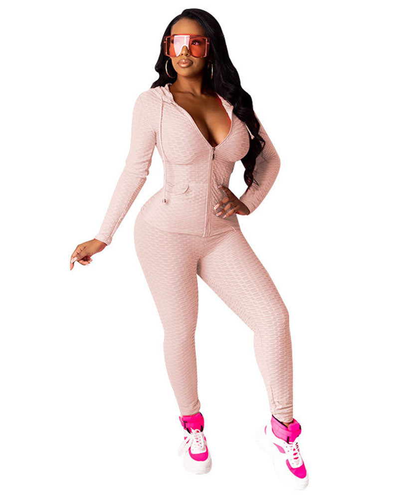 Nuri 2pc Textured Sweatsuit