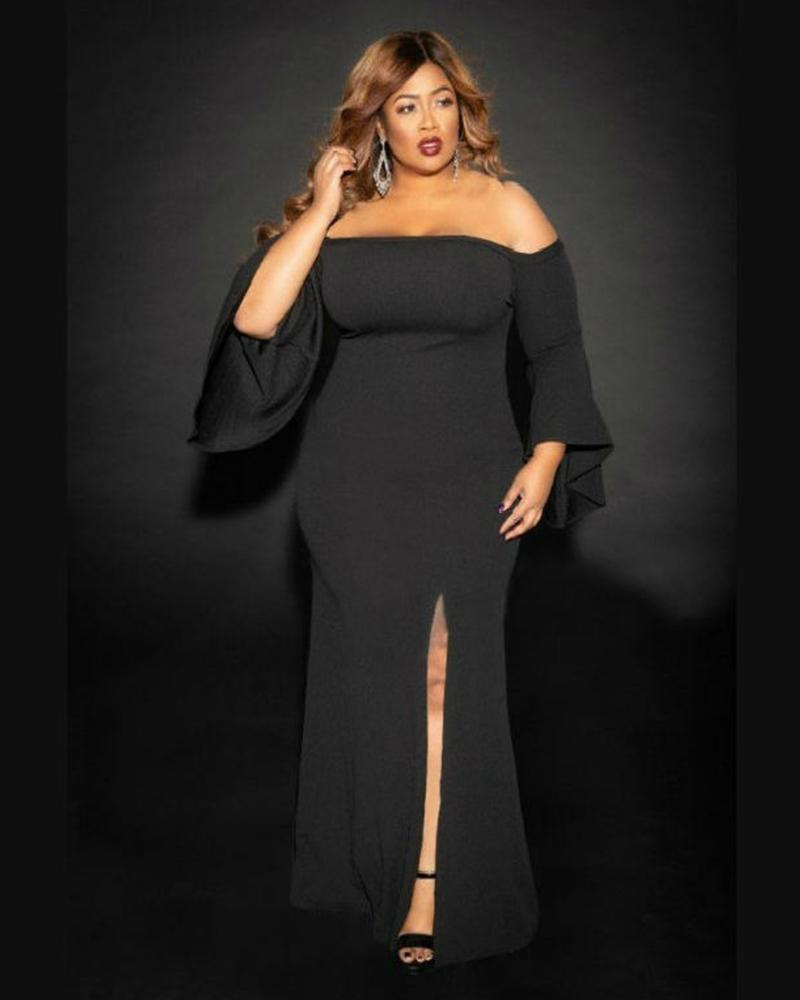Plus Like A Song High Split Maxi Dress