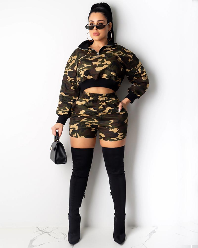 Camouflage Two Piece Suit