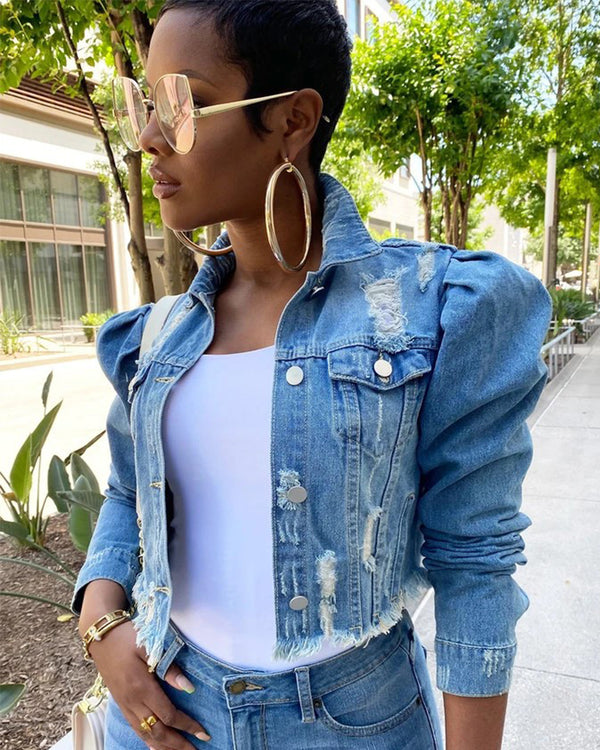 Alisha Denim Top