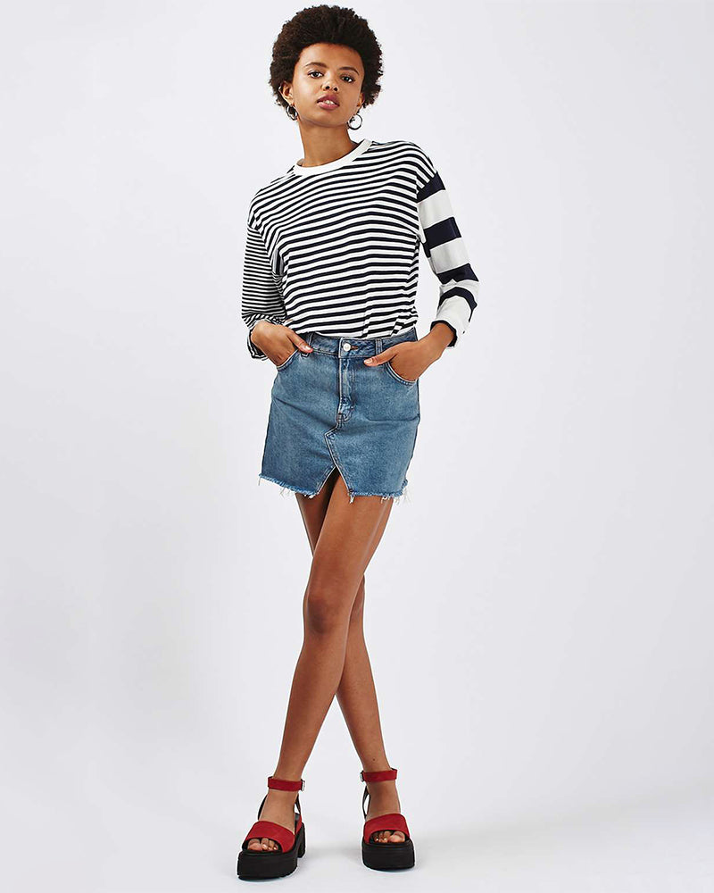 Cat's whiskers A-line skirt