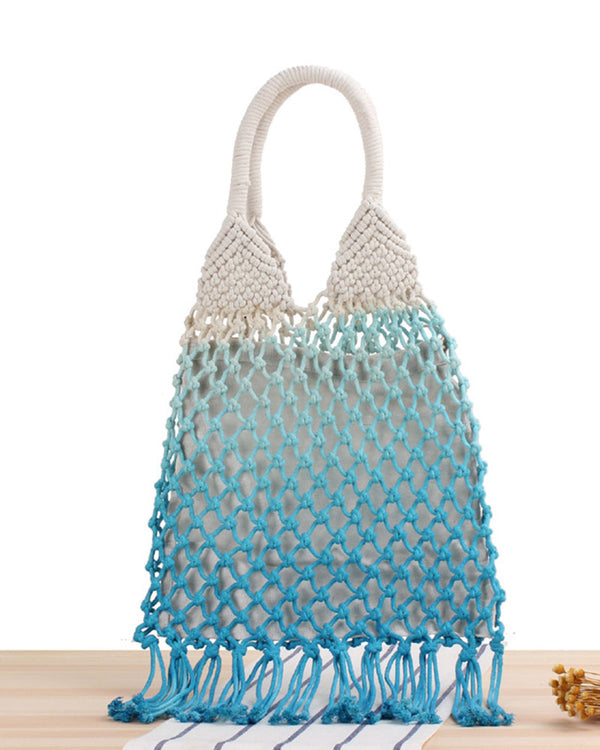 color palette gradient net bag