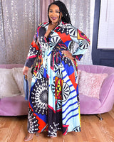 Color Poppin Belted PLus Maxi Dress