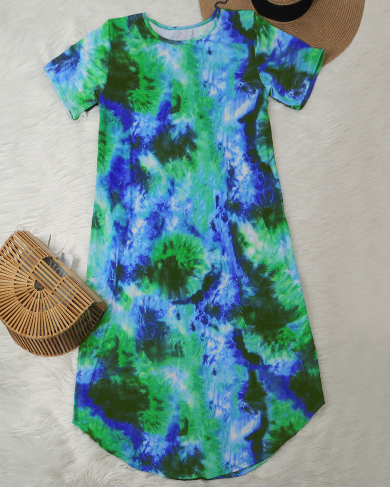 Don't Let Her Go Tie Dye Dress