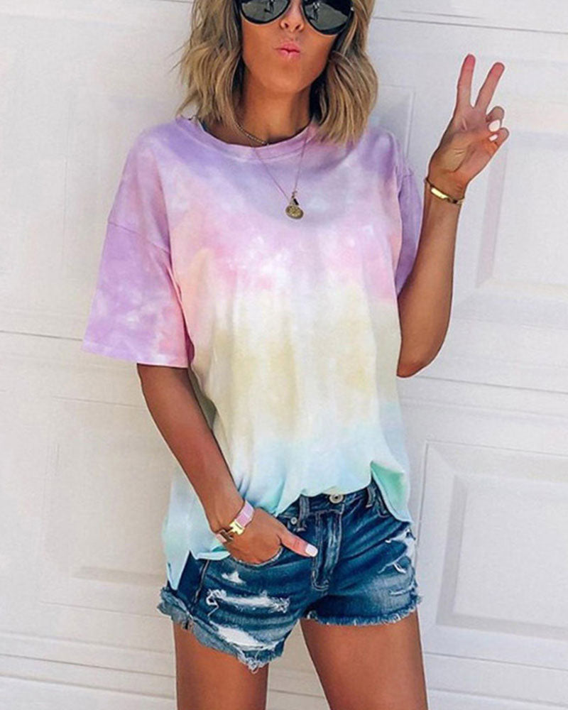 Colorful Tie Dye Top-Various Sizes